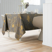 "Mille Feuilles Bronze Tablecloth 71""x118"", Cotton"
