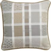 "Cushion Cover Mille Wax Argile 20""x20"", Cotton - 2ea"