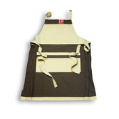 Chocolate and Cream Auvillar Two-color Apron
