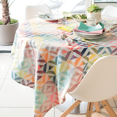 "Mille Twist Pastel Tablecloth 61""x61"", 100% Cotton"