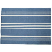 Blue and White Regata Large Herringbone Stripe Kitchen towel