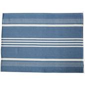 Blue and White Regata Large Herringbone Stripe Kitchen towel