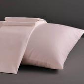 Desire Collection Pearl Blush Queen Sheet Set 400TC, 100% ELS Cotton, Plain Sateen.