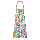 "Mille Peacock Summer 28""x33"" Apron, 100% Cotton"