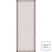 """Tablerunner Persephone Sepia 22""""x59"""", GS Stain Resistant - 1ea"""