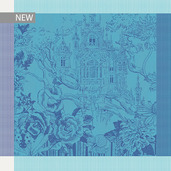 """Paradis Blue Napkin 21""""x21"""", 100% Cotton"""