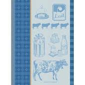 La Vache Et Le Lait Bleu Kitchen Towel, Cotton