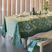 """Mille Automnes Mousse Tablecloth 71""""x118"""", 100% Cotton"""