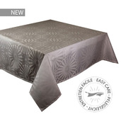"""Mille Riads Etain Tablecloth 61""""x89"""", 100% Polyester"""