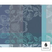 """Mille Fiori Givre Placemat 16""""x20"""", Coated Cotton"""