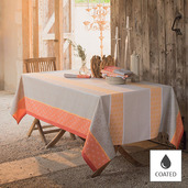 "Mille Geometry Mango Tablecloth Square 59""x59"", Coated"