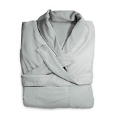 Microfiber White Bath Robe
