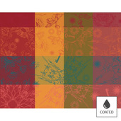 """Mille Alcees Litchi Placemat 16""""x20"""" Coated Cotton - 4ea"""