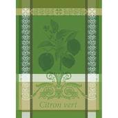 "Citron Vert Vert Acide Kitchen Towel 22""x30"", 100% Cotton"