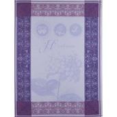 "Torchon Hortensia Bleu Kitchen Towel 22""x30"", 100% Cotton"