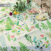 "Mille Herbier Printemps Tablecloth 61""x89"", Metis"