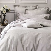 """Origami Taupe Fitted Sheet 72""""x84"""", 100% Cotton"""