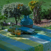 "Mille Alcees Narcisse Tablecloth 35""x35"", Cotton-2ea"