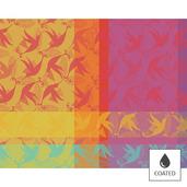 """Mille Colibris Antilles Placemat 16""""x20"""", Coated Cotton"""