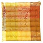 "Mille Couleurs Soleil Chair Cushion 15""x15"", Coated Cotton"