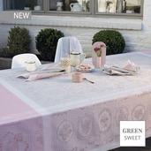 "Lysandra Rose Tablecloth 69""x100"", Green Sweet"