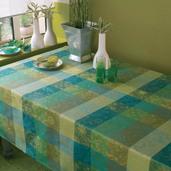 """Tablecloth Mille Couleurs Lime 71""""x98"""", Cotton - 1ea"""