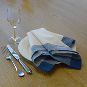 Intramuri Blue Napkin, Slub Cotton-4ea