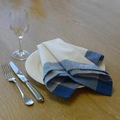 Intramuri Blue Napkin, Slub Cotton-4ea