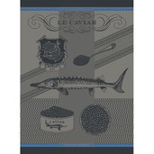 Caviar Lisere Bleu Kitchen Towel, Cotton