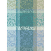 "Mille Dentelles Turquoise 22""x30"" Kitchen Towel, 100% Cotton"