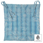 """Mille Coraux Ocean Chair Cushion 15""""x15"""", Coated Cotton"""