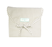 Stripes Greige King Duvet Set 200 thread count, 100% Cotton.