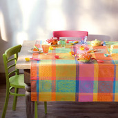 """Mille Wax Creole Tablecloth Round 71"""", 100% Cotton"""