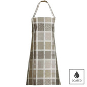 "Mille Ladies Argile Apron 30""x33"", Coated Cotton"