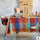 "Mille Couronnes Jubile Tablecloth 59""x59"", Coated Cotton"