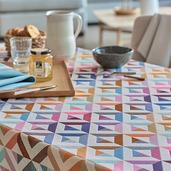 Mille Twist Warm Tablecloth Round 61, 100% Cotton