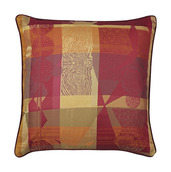 "Mille Tingari Terre Rouge Cushion Cover 16""x16"", Cotton-2ea"