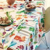 """Mille Jardin Potager Tablecloth 45""""x45"""", Linen / Cotton"""