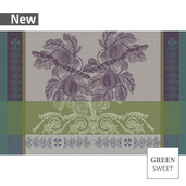 "Figues Set Bronze Placemat 19""x13"", Green Sweet"