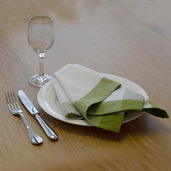 Intramuri Green Napkin, Slub Cotton-4ea