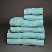 Essential Blue 6 pieces Bath Set, 100% Cotton.