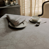 """Tablecloth Mille Datcha Nacre Round 93"""""""
