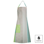 Mille Geometry Lime Apron, Coated