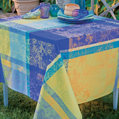 "Mille Patios Majorelle Tablecloth 71""x98"", Cotton"