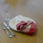 Intramuri Red Napkin, Slub Cotton-4ea