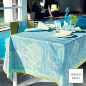 """Corail Lagon Tablecloth 61""""X89"""", GS Stain Resistant"""