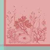 Corail Rose Napkin, Cotton-4ea