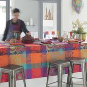 "Mille Tornades Pop Tablecloth 71""x118"", Cotton"