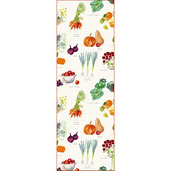 "Mille Jardin Potager Tablerunner 20""x59"", Linen / Cotton"
