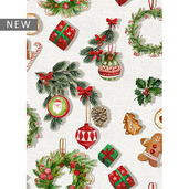 "Mille Christmas Mini Christmas Kitchen Towel 20""x28"", 100% Cotton"